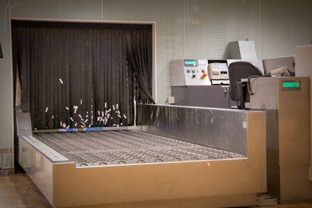 Empty baggage drop-off Stock Photo