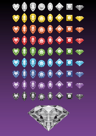 Collection of diamonds especially for brushes and patterns Illustration