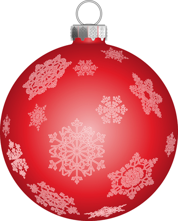 Christmas tree ball in red