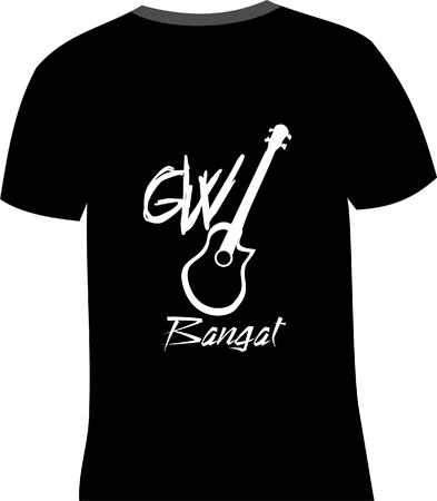 T-Shirt Design Standard-Bild - 36094623