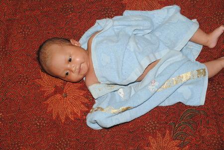Babies finished showering photo