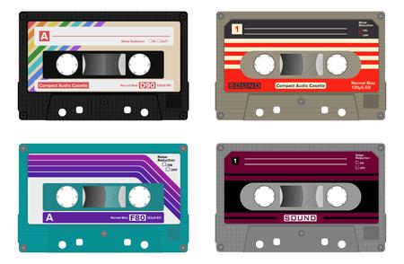 Cassette audio compacte / cassette / cassette de musique Vecteurs