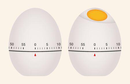 Mechanical kitchen timer. Egg shape design.  イラスト・ベクター素材