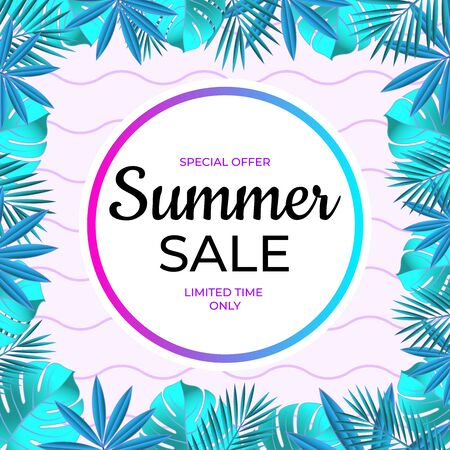 Summer sale banner. Special offer limited time only.
