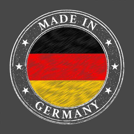 Made in Germany flag grunge stamp. Vector illustration Illusztráció