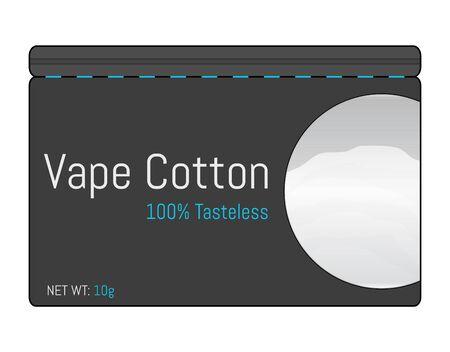 Cotton for electronic cigarettes icon. Tasteless vape cotton. Flat style. Vector illustration EPS10.