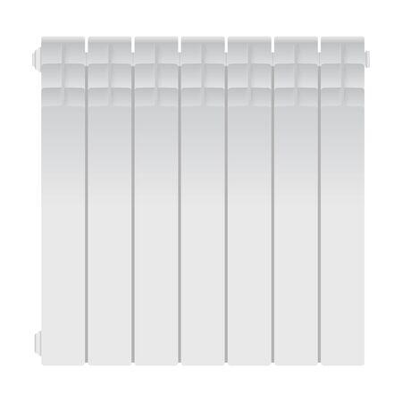 Radiator heater icon. Modern iron white heater. Vector illustration EPS10.