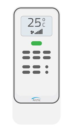 Remote control conditioner icon. White modern RC on white background. Vector illustration EPS10.