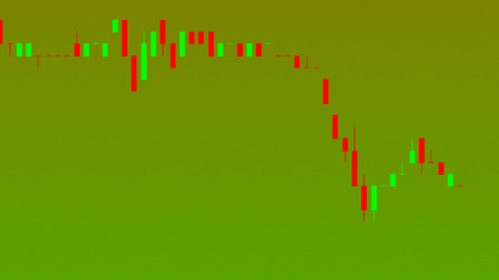 Abstract financial trading graphs. Background with currency Candlestick schedule. Stock market chart uptrend downtrend. Market Analyze. Bullish Bearish point. Duotone color. Zdjęcie Seryjne