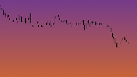 Abstract financial trading graphs. Background with currency candlestick schedule. Stock chart uptrend downtrend. Market Analyze. Bullish Bearish point. Duotone color. Forex trading.