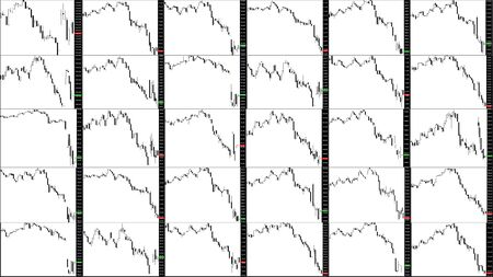 Stock market chart. Downtrend Imagens - 95671362