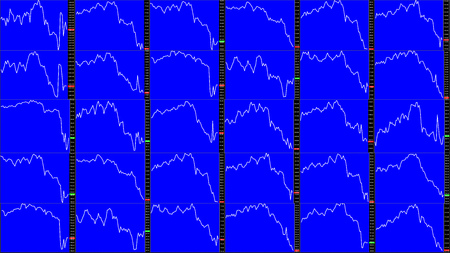 Stock market chart. Downtrend