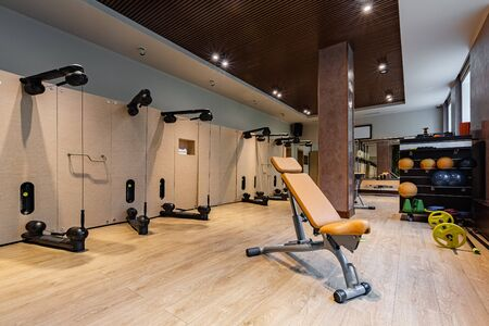 A high-end product that meets the needs of professional sports centres, unique and exclusive design. The solution for hotels, fitness clubs and spas. Additional services to its customers. Фото со стока