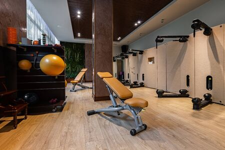 A high-end product that meets the needs of professional sports centres, unique and exclusive design. The solution for hotels, fitness clubs and spas. Additional services to its customers. Stok Fotoğraf