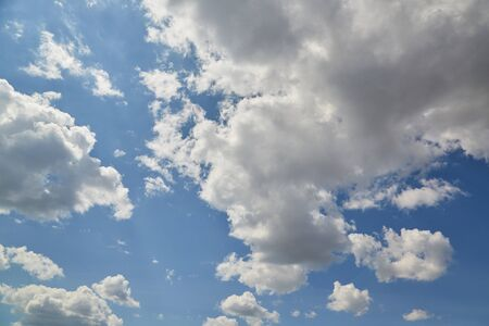Sky clouds. Blue aerial landscape on light background. Empty background scene. Panoramic view. Sky blue background. Urban scene. Sunny day, blue sky. Wide angle. Wide panorama. Aerial view. Sky clouds.