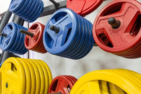 Fitness equipment. Fitness workout. Sports background. Crossfit fitness, bodybuilding concept. Fitness gym background. Power concept. Sport concept. Stok Fotoğraf - 142500395