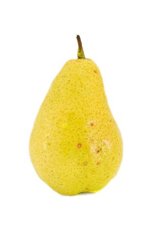 Yellow pear isolated on white background