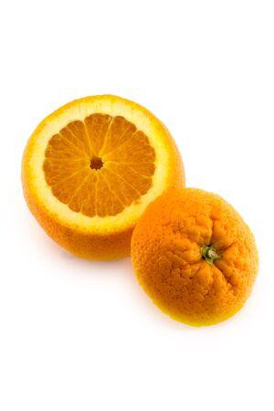 Open orange with bottom isolated on white background