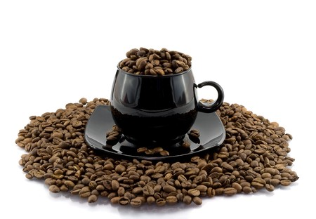 Coffee beens in cup