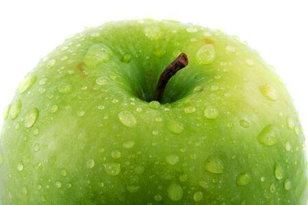 Waterdrops on green apple Stock Photo - 4852960