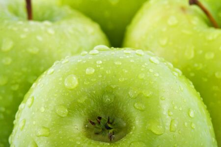 Waterdrops on green apple Stock Photo - 4852961