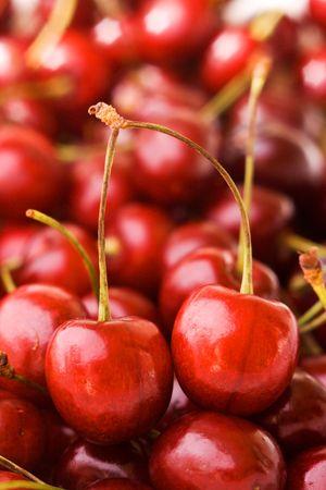Sweet cherry in heap Stock Photo