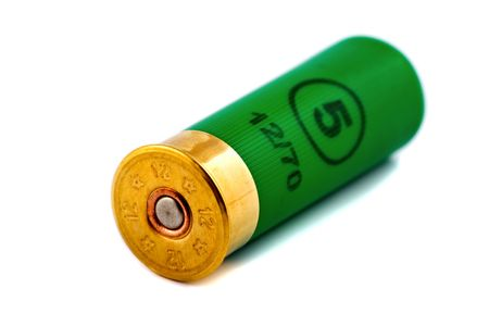 One hunting cartridge for shotgun 12 caliber Stock Photo - 5528725