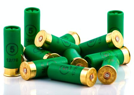 caliber: Heap of hunting cartridges for shotgun 12 caliber
