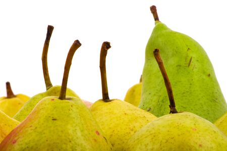 Pears closeup on white background Stock Photo