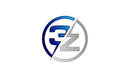 initial: Letter 3Z initial modern Illustration