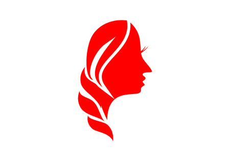 Women beautiful face logo vector