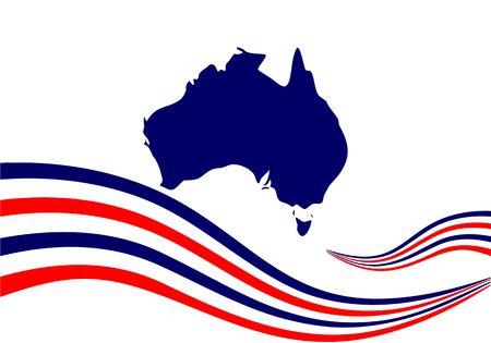 Happy australia day logo