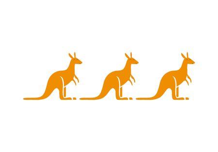Australia kangaroo logo Illustration