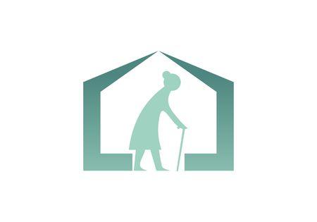 Happy retirement for elderly people nursing home