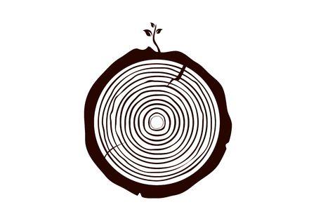 Wood logo vector