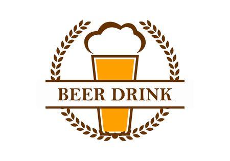 Beer alcohol logo vector Иллюстрация