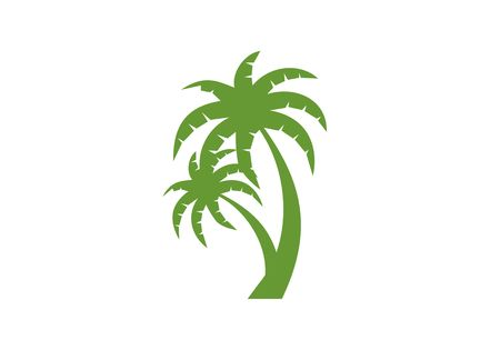 Palm tree, coconut logo vector