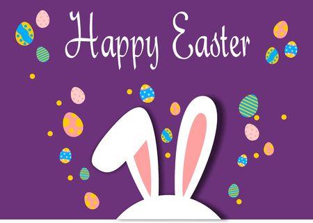 Happy easter, egg logo vector Banque d'images - 118637269