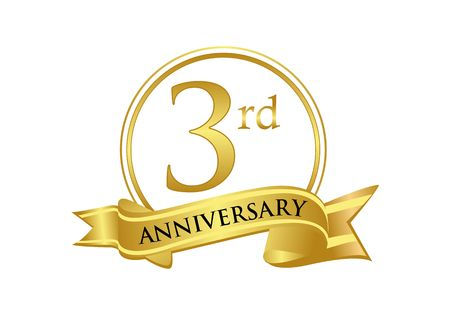 3rd anniversary celebration logo vector