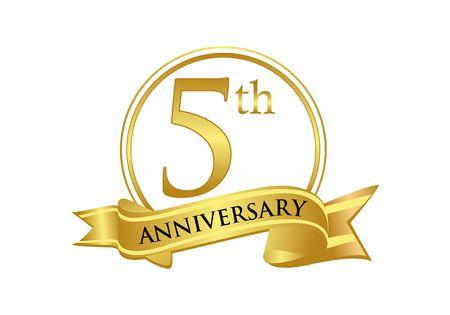 5th anniversary celebration logo vector