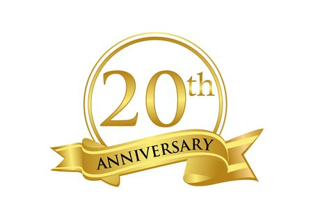 20th anniversary celebration logo vector