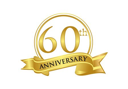 60th Anniversary celebration logo vector