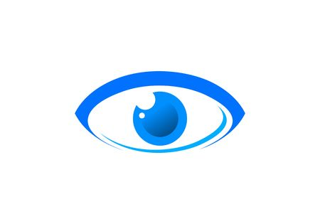 Eye optic logo vector
