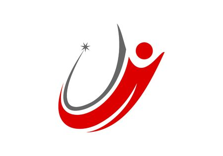 Success coaching people logo vector 일러스트