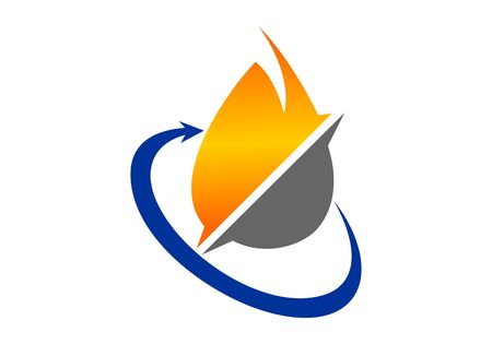 Oil and gas logo vector Stock Illustratie