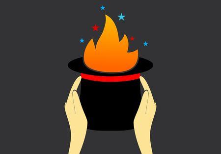 Magician Hat logo concept
