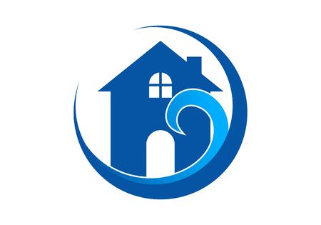 Waterproofing, water drop logo vector