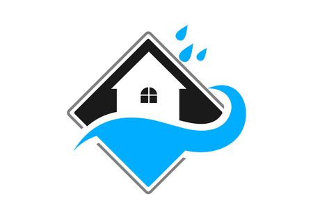 Waterproofing, water drop logo vector Vectores