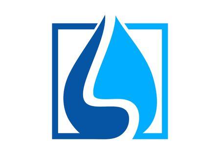 Waterproofing, water drop logo vector Logo