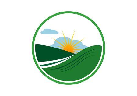 Landscape logo vector Ilustracja